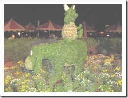 Florida vacation Epcot topiary Eeyore and Piglet