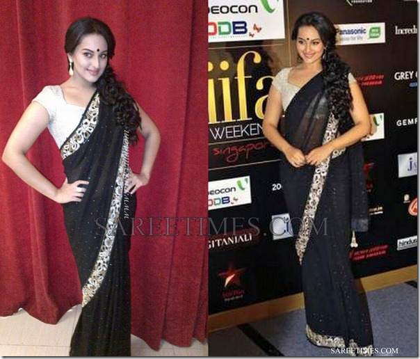Sonakshi_Sinha_Black_Saree_IIFA_Awards