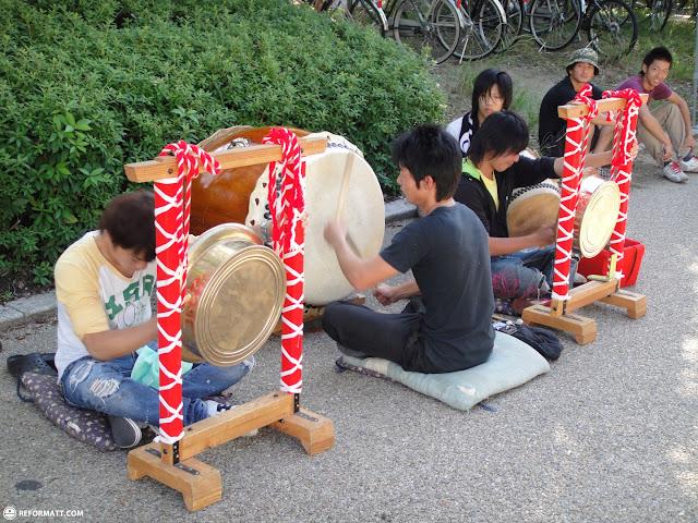 taiko drummers in Osaka, Osaka, Japan