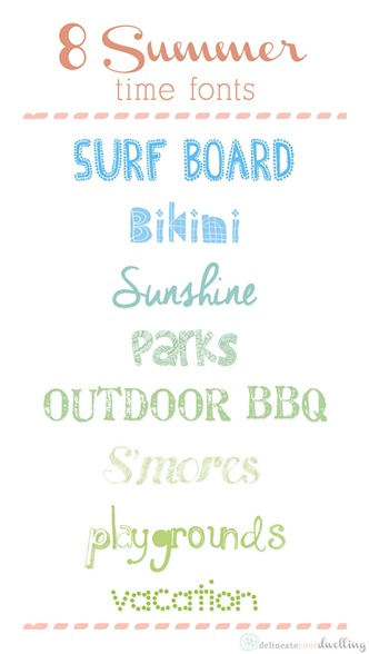 eight summer free fonts