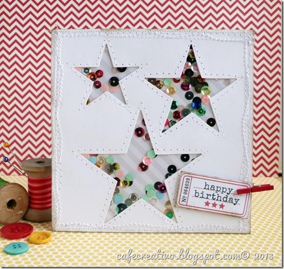 cafe creativo - card stelle - coriandoli