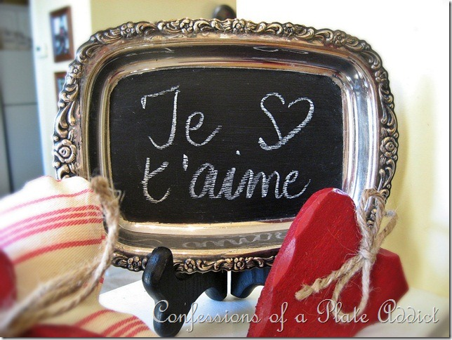 CONFESSIONS OF A PLATE ADDICT Valentine Chalkboard Greeting