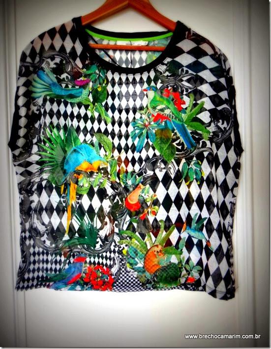 blusa estampada Zara no Camarim