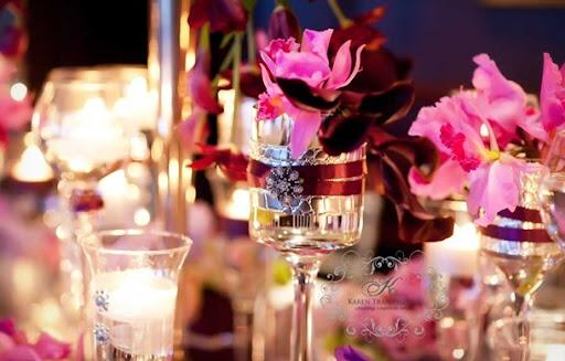 simple purple wedding cakes bling