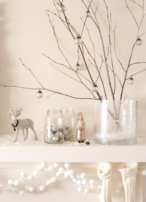 Blanco Y Plata Navidad