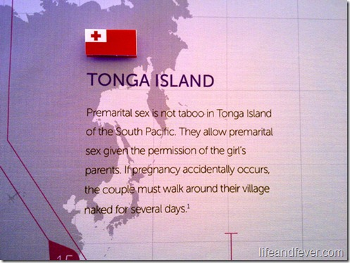 Tonga Island sex trivia