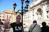 Gerrod at the Trevi fountain