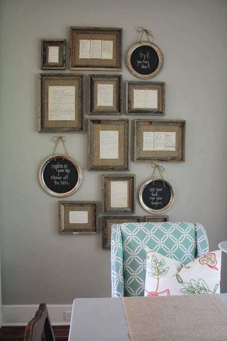 framed family recipes