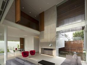 Decoración interior sillas de diseño color rojo