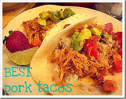northern cottage pork tacos