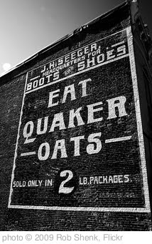 'Eat Quaker Oats' photo (c) 2009, Rob Shenk - license: http://creativecommons.org/licenses/by-sa/2.0/