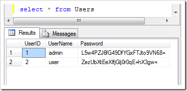 Standard user accounts registered by custom membership provider in web app created with Code On Time
