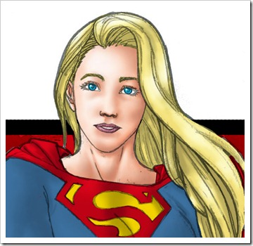 Supergirl simbol COLOR PREVIEW