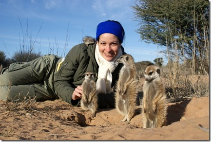 Sarah with Meerkats1