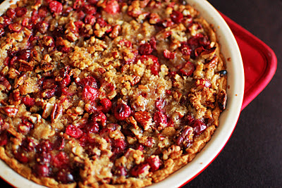 Pumpkin cranberry and pecan pie