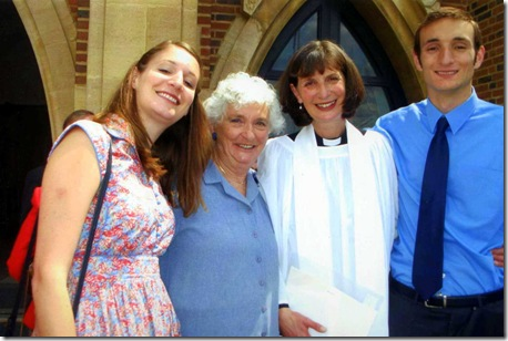 Rev Claire Isherwood's Priesting at Guildford Cathedral on 2 July 2011