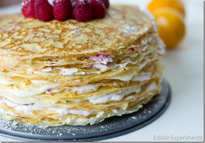 Meyer Lemon and Raspberry Crepe Cake-16