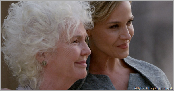 Fionnula Flannigan (L) as Nicolette and Julie Benz as Amanda. CLICK to visit the official DEFIANCE site.