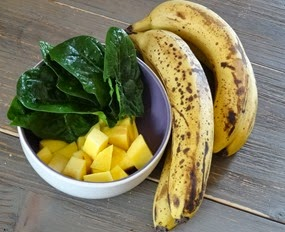 mangue bananes épinards