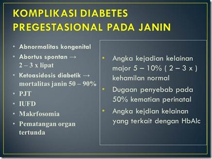 KOMPLIKASI DIABETES PREGESTASIONAL PADA JANIN