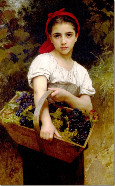 william Adolphe Bouguereau, vendangeuse