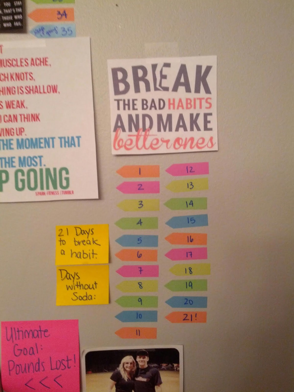 motivation wall 6 months to slim