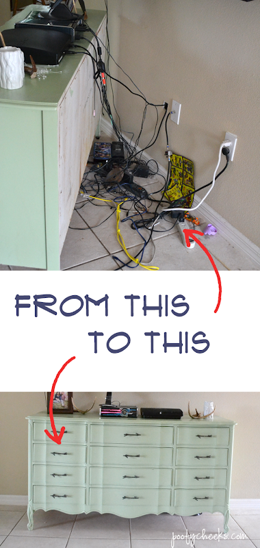 DIY - Hide the cords to all of your electronics without using any tools