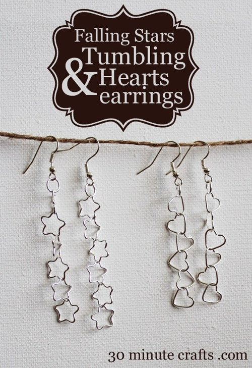 cheap craft diy stars and hearts earrings jewelry