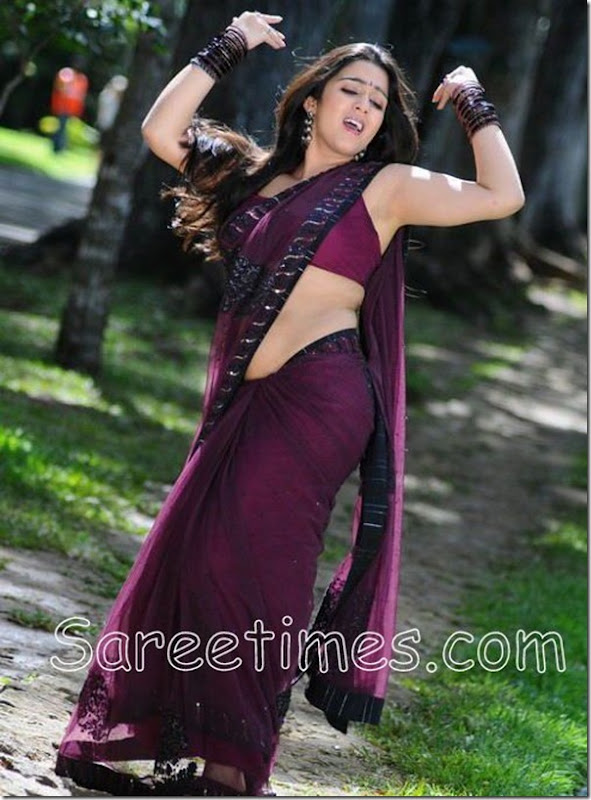 Charmi_Purple_Saree
