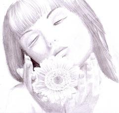 Fata cu floarea
