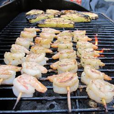Rum Glazed Grilled Shrimp