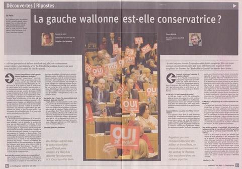 gauche conservatrice belge LaLibre 160611