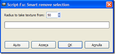 GIMP Script-Fu Smart remove selection