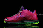 nike lebron 10 low gr purple neon green 1 04 Release Reminder: NIKE LEBRON X LOW Raspberry (579765 601)