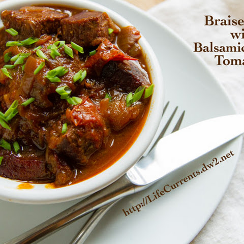 Braised Beef with Balsamic Roasted Tomatoes