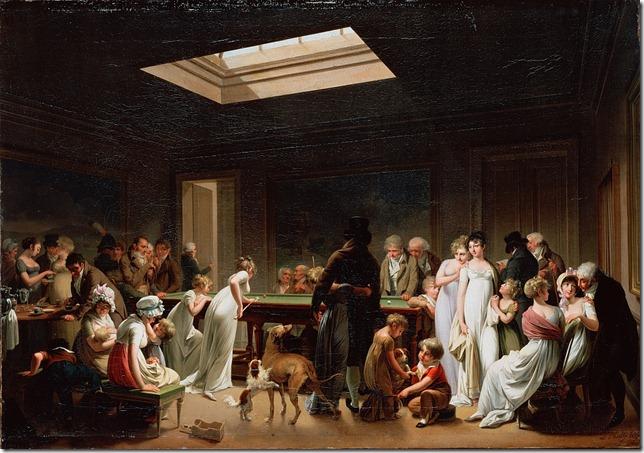 louis-leopold boilly, gra w bilard, 1807