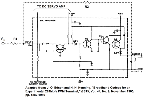 A 1965 solid state current feedback op amp design from Bell Labs