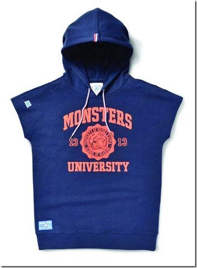 Monster University X Giordano - Blue hoodie