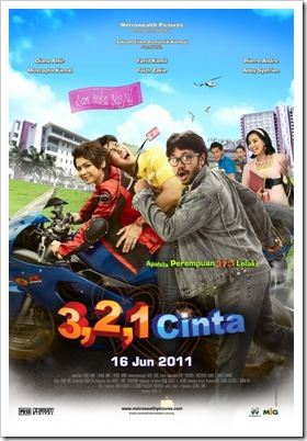 321 cinta poster