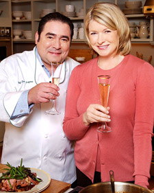 Emeril and Martha make a great team.