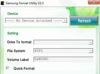 Samsung Format Utility