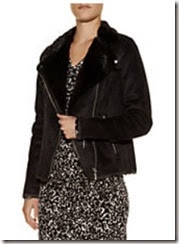 Michael Michael Kors Faux Mink Biker Jacket