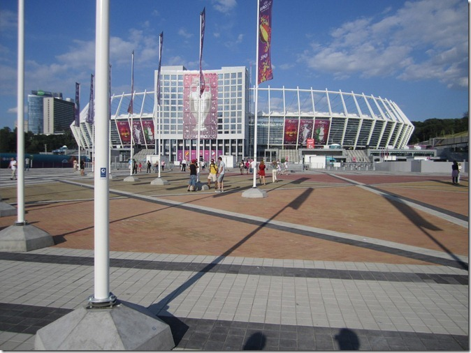 """Olimpiyskiy"" stadium before the Final"