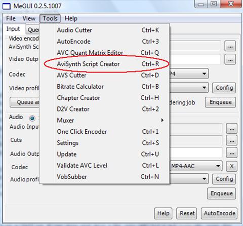 1.5-avisynth-script-creator-menu