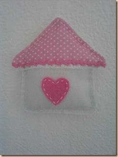 casetta rosa scatola dei ricordi