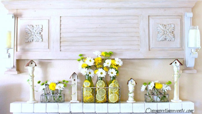 Spring-Mantel-2015-Daisies-and-Lemon