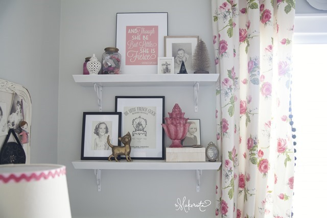 pink and gray nursery