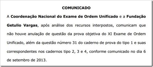resultado final XI exame - 1fase