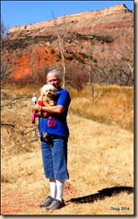 Dolly and Fergie at Palo Duro Canyon SP