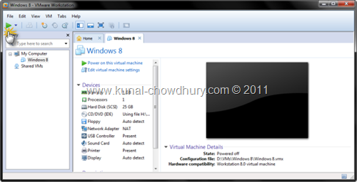 9. Click Run to Boot the VM